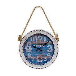 Distressed At the Beach Wall Clock