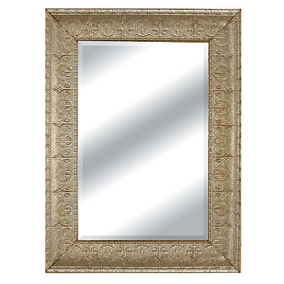 Silver Galvanized Molded Wall Mirror