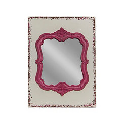 Pink Ornate Moulded Framed Mirror