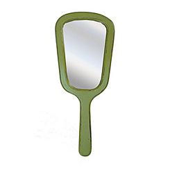 Vintage Green Hanging Hand Mirror