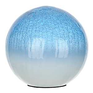 Blue Crackle Glass Orb