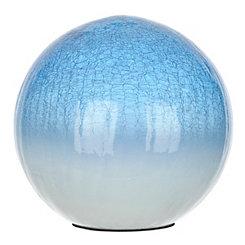 Blue Crackle Glass Orb