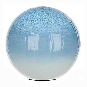 Blue Crackle Glass Orb, 10 in.