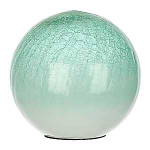 Green Crackle Glass Orb, 8 in.
