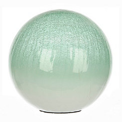 Green Crackle Glass Orb, 10 in.