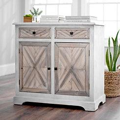 Planked Herringbone Cabinet