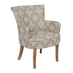 Lauren Quatrefoil Accent Chair