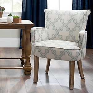 Lauren Quatrefoil Accent Chair