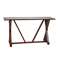 Trestle Wood Console Table