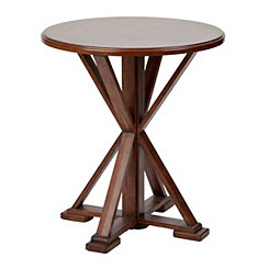 Round Trestle Accent Table