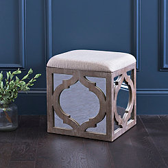 Mirrored Natural Geometric Ottoman