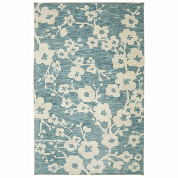 teal burbank blossom area rug 8x10