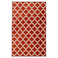 Red Calabasas Quatrefoil Area Rug, 8x10