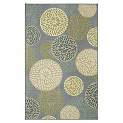 Cream Floral Foliage Area Rug, 5x8