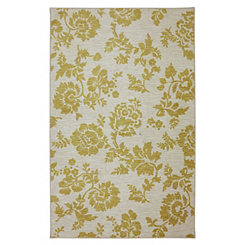 Gold Freemont Floral Area Rug, 5x8