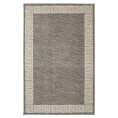 Gray Oceanus Greek Key Area Rug, 5x8