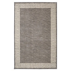 Gray Oceanus Greek Key Area Rug, 8x10