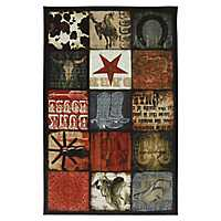 Cowboy Patches Area Rug, 5x8