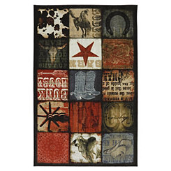 Cowboy Patches Area Rug, 8x10