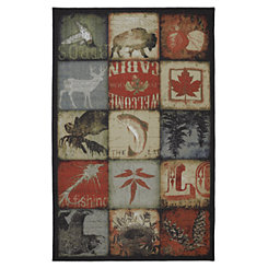 Mountain Lodge Patches Area Rug, 5x8
