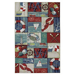 Nautical Patches Area Rug, 8x10