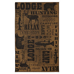 Brown Rustic Escape Area Rug, 8x10