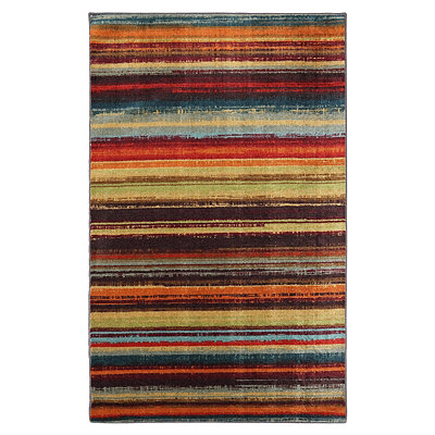 Boho Stripe Area Rug, 5x8