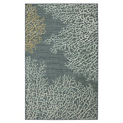 Blue Coral Reef Area Rug, 8x10