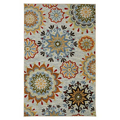 Gray Global Goddess Area Rug, 5x8