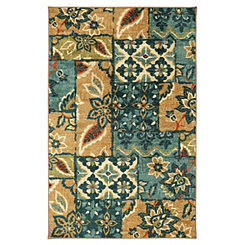 Floral Patchwork Area Rug, 8x10