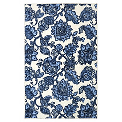 Blue Arranged Melody Area Rug, 5x8