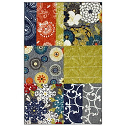 Secret Garden Patchwork Area Rug, 5x8