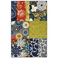 Secret Garden Patchwork Area Rug, 8x10