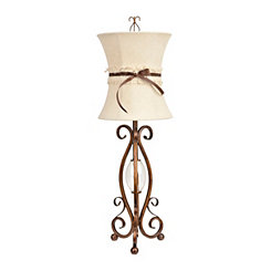Bronze Seville Scroll Metal Table Lamp