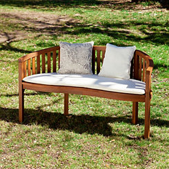 White Borghese Outdoor Bench