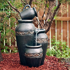 Hallaway Jars Outdoor Fountain