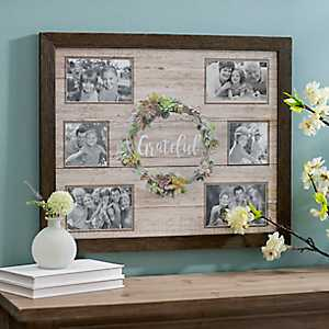 Grateful Succulent Wreath Collage Frame