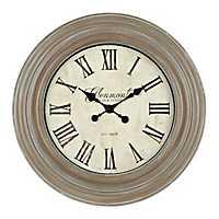 Distressed Vintage Brown Wall Clock