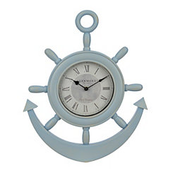 Light Blue Anchor Wall Clock