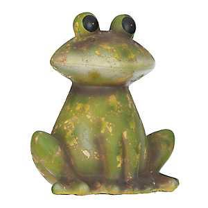 Green Terra Cotta Frog Statue