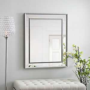 Small Silver Luxe Mirror