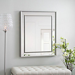 Small Silver Luxe Mirror, 29.5x35.5 in.