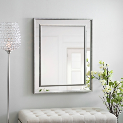 Small Silver Luxe Mirror