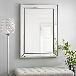 Medium Silver Luxe Mirror, 31.5x43.5 in.