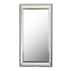 Large Silver Luxe Leaner Mirror