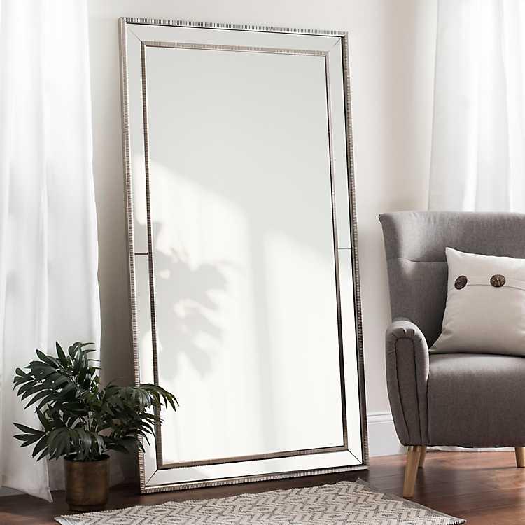 Large Silver Luxe Leaner Mirror Kirklands