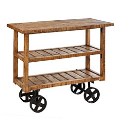 Bengal Mango Wood Industrial Cart