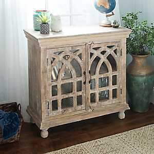 Cathedral Light Mango Wood Cabinet