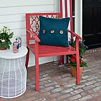 Red Geometric Metal Chair