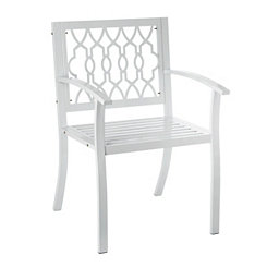 White Geometric Metal Chair